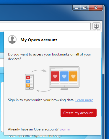 Sync your browser - Opera Help