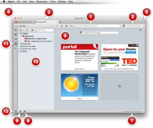 Opera browser on Mac