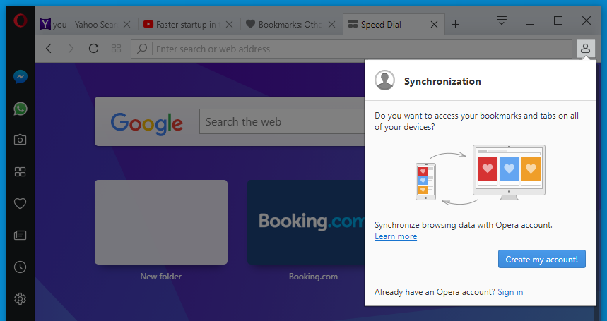 green browser vs opera