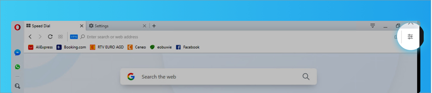 Where is the settings page in Opera? - Opera Help