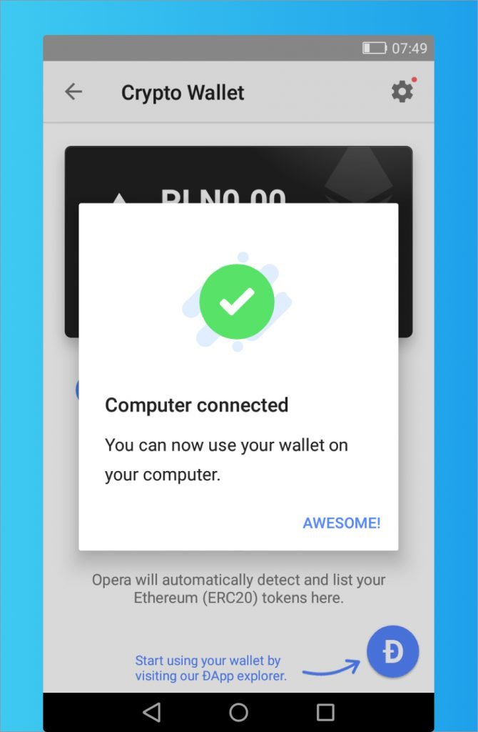 How to use Opera's Crypto Wallet on your computer - Opera Help