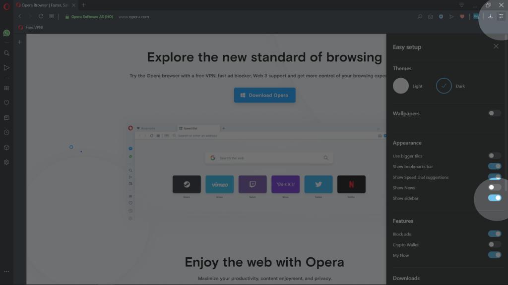 Customization - Opera Help