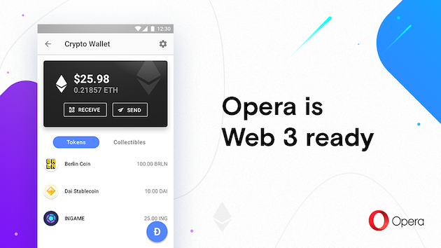 Opera launches first Web 3-ready browser for Android - Opera