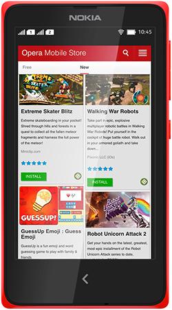 Opera Mobile Store on Nokia devices