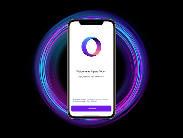 Opera Touch in iPhone XS