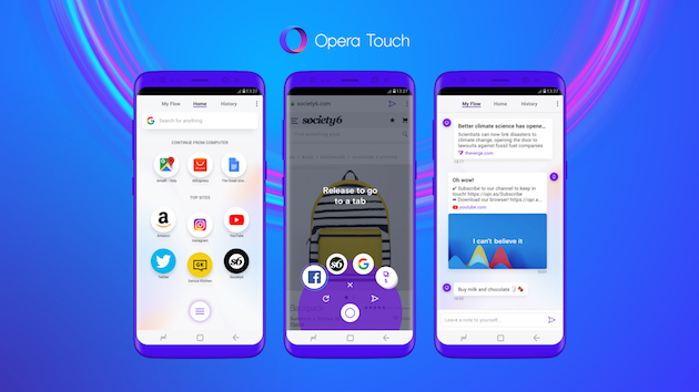 Opera Touch is a new browser