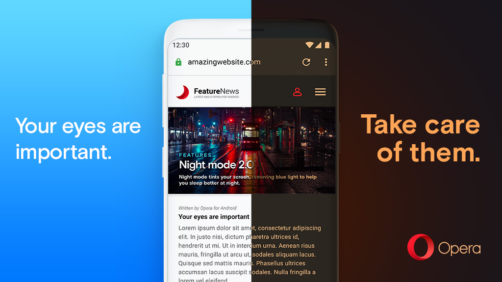 Opera for Android comes with Night Mode