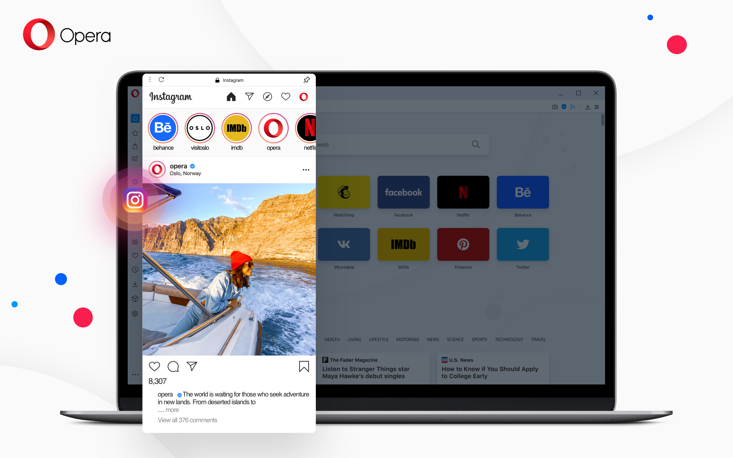 Opera instagram built in desktop