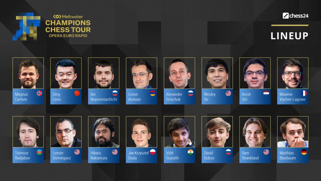Opera Euro Rapid chess tournament lineup